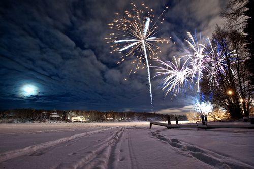 Fireworks Snow